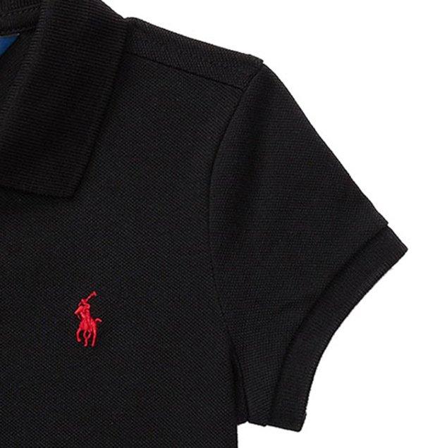 画像3: ★メール便無料★【ラルフローレン】ストレッチメッシュ半袖ポロシャツ(ブラック)<2T-SIZE6>