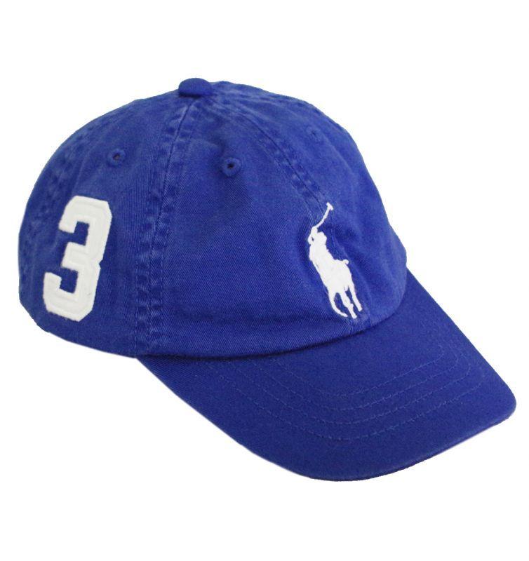 White 2T-4T Ralph Lauren Polo Boys Big Pony Chino Sports Cap