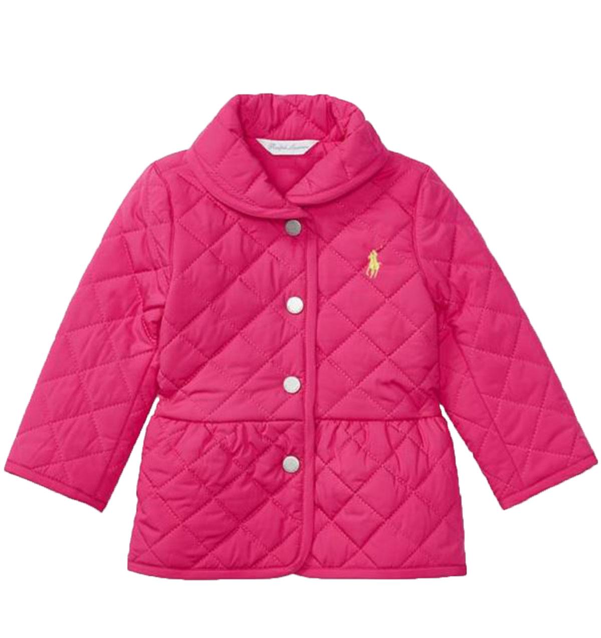 【ラルフローレン】キルテッド バーン ジャケット(ピンク)<18-24カ月>