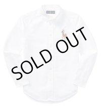 【ラルフローレン】長袖マルチビッグポニーコットンオックスフォードシャツ(ホワイト)<S-XL>