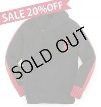 【ラルフローレン】ビッグポニーコットン ショール セーター(ブラック)<SIZE7>
