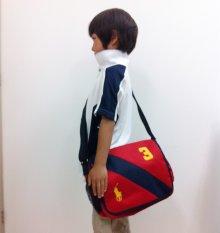 他の写真1: 【ラルフローレン】ポニー刺繍 ナイロンショルダーミニバッグ(メッセンジャーバッグ)(赤)