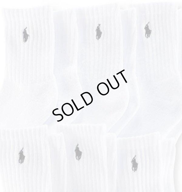 画像2: 【ラルフローレン】クラシッククルーソックス/靴下(6足セット)<ホワイト>16-19cm