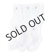 【ラルフローレン】クラシッククルーソックス/靴下(6足セット)<ホワイト>16-19cm