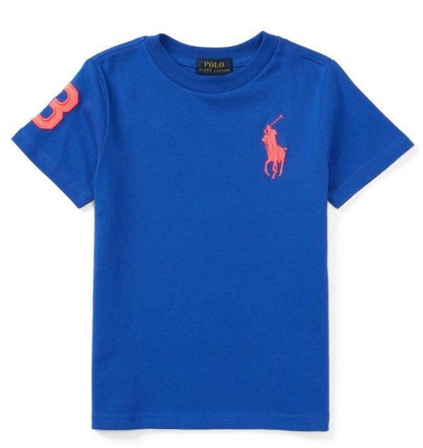 画像2: ★メール便無料★【ラルフローレン】ビッグポニーコットンTシャツ(ブルー)<4T-SIZE7>