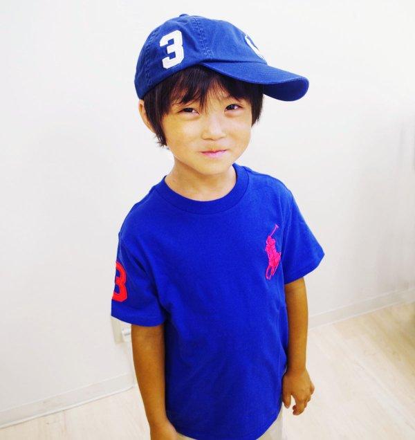 画像1: ★メール便無料★【ラルフローレン】ビッグポニーコットンTシャツ(ブルー)<4T-SIZE7>