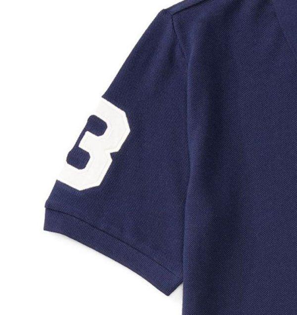 画像3: ★メール便無料★【ラルフローレン】半袖ビッグポニーカスタムフィットポロシャツ(ネイビー×ホワイト)<S-XL>