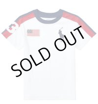 ★メール便送料無料★【ラルフローレン】半袖ビッグポニーコットンクルーネックTシャツ(ホワイト)<2T-SIZE7>