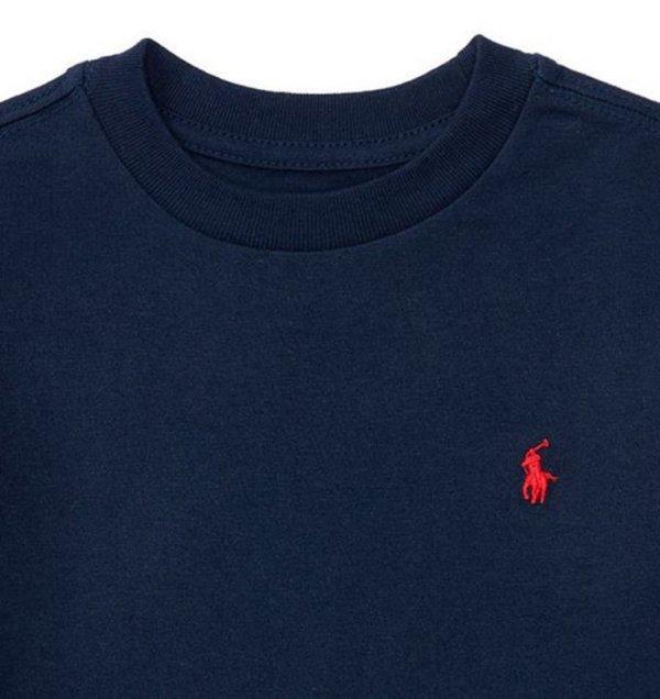 画像2: ★メール便無料★【ラルフローレン】半袖コットンクルーネックTシャツ(ネイビー)<2T-SIZE7>
