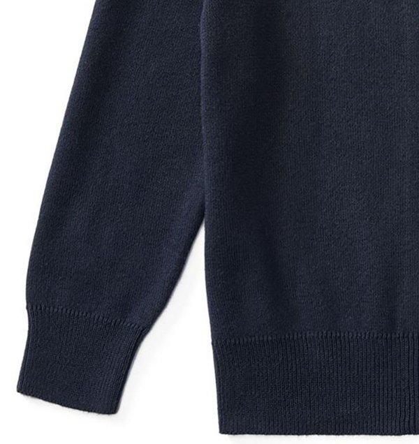 画像3: 【ラルフローレン】長袖コットンフルジップセーター(ネイビー)<2T-SIZE7>