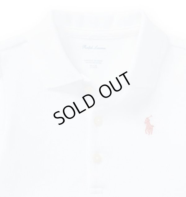 画像2: ★メール便無料★【ラルフローレン】コットンメッシュポロシャツ(ホワイト)<12-24カ月>