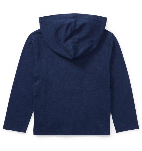画像5: ★メール便無料★【ラルフローレン】コットン長袖フードTシャツ(ネイビー)<2T-SIZE7>