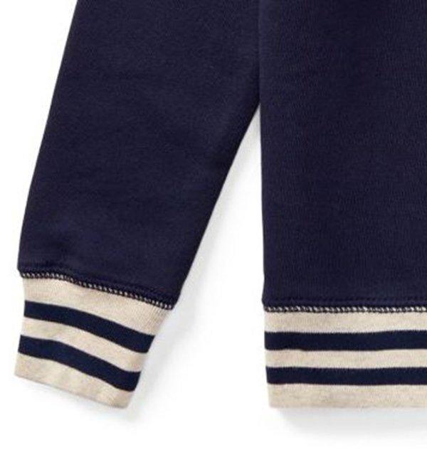 画像3: ★メール便無料★コットンフレンチテリースウェットシャツ(ネイビー)<2T-SIZE7>