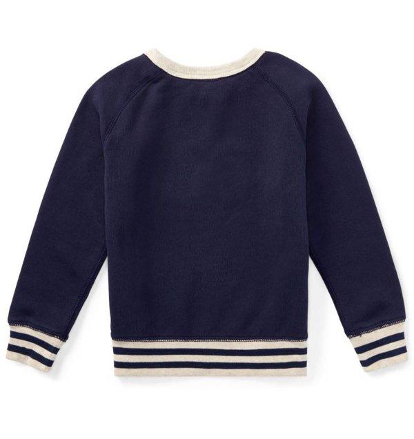 画像4: ★メール便無料★コットンフレンチテリースウェットシャツ(ネイビー)<2T-SIZE7>