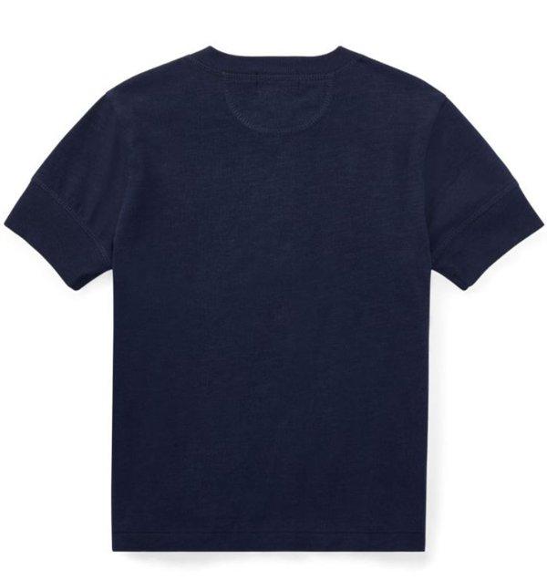 画像4: ★メール便無料★【ラルフローレン】半袖コットンジャージーヘンリーネックTシャツ(ネイビー)<2T-SIZE7>