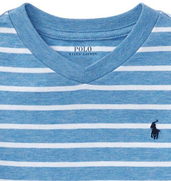 画像2: ★メール便送料無料★【ラルフローレン】半袖ストライプコットンジャージーTシャツ(ブルーマルチ)<2T-SIZE7>