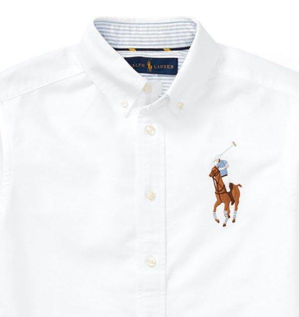 画像2: 【ラルフローレン】長袖ビッグポニーストライプドコットンオックスフォードシャツ(ホワイト)<S-XL>