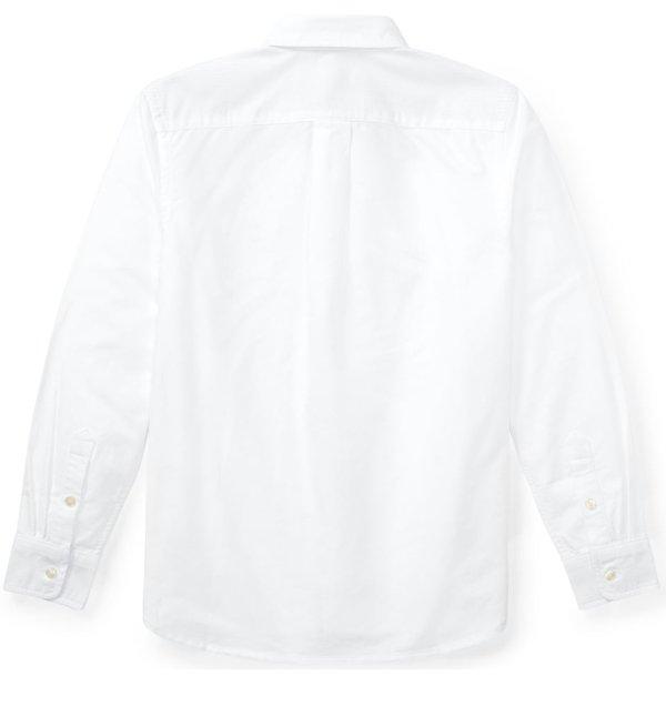 画像4: 【ラルフローレン】長袖ビッグポニーストライプドコットンオックスフォードシャツ(ホワイト)<S-XL>