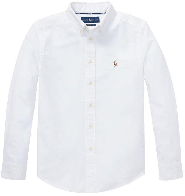 画像1: 【ラルフローレン】長袖パフォーマンスオックスフォードシャツ(ホワイト)<S-XL>