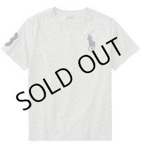 ★メール便無料★【ラルフローレン】半袖ビッグポニーコットンTシャツ(グレー)<S-XL>