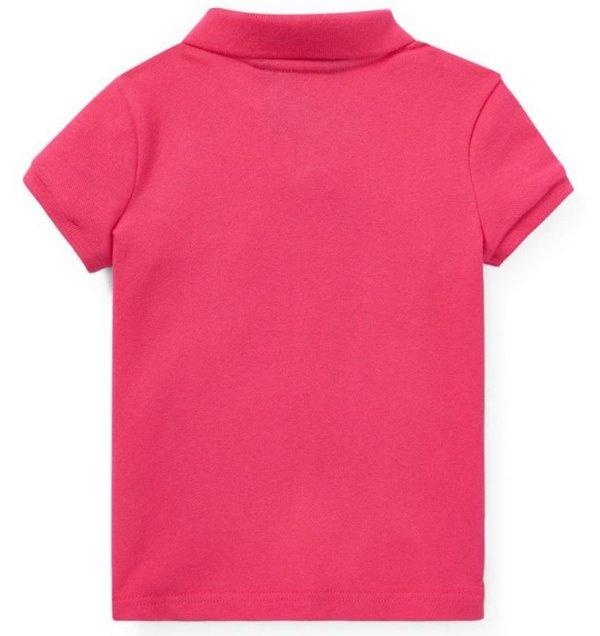 画像3: ★メール便無料★【ラルフローレン】半袖ビッグポニー ポロシャツ(ピンク)<2T-SIZE6X>