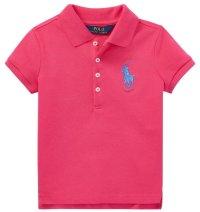 ★メール便無料★【ラルフローレン】半袖ビッグポニー ポロシャツ(ピンク)<2T-SIZE6X>