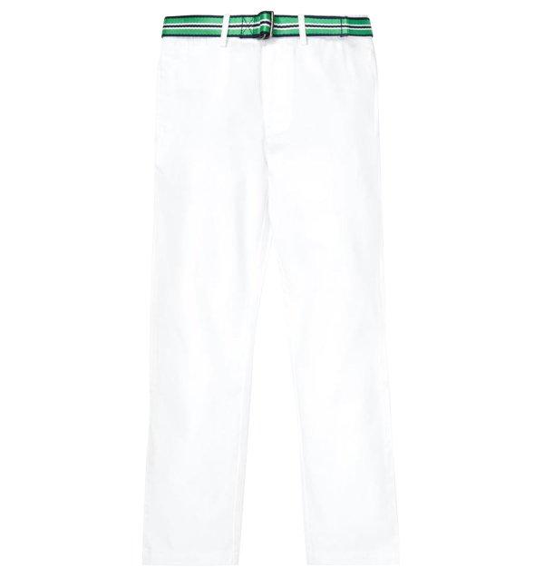 画像1: 【ラルフローレン】ベルト付 ストレッチ チノ パンツ(ホワイト)<140cm-170cm>