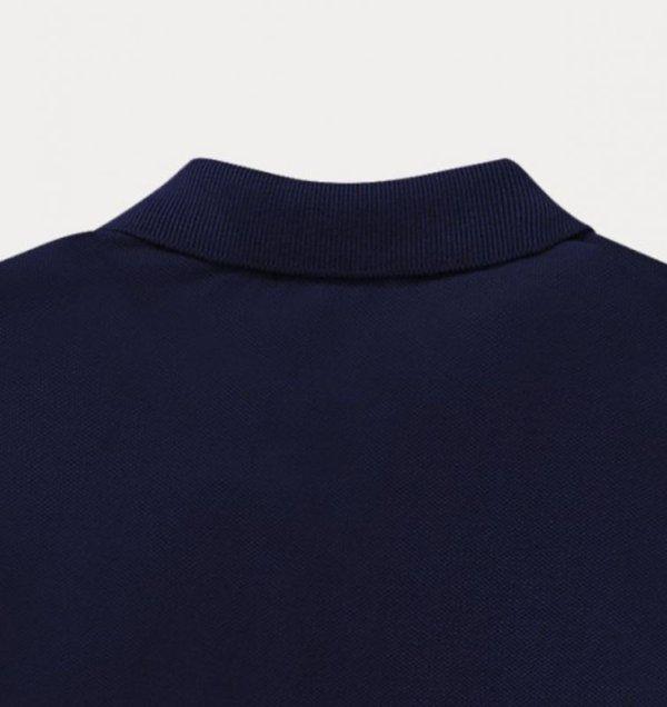 画像4: ★メール便無料★【ラルフローレン】コットンメッシュ長袖ポロシャツ(ネイビー)<2T-SIZE7>