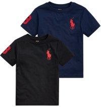 ★メール便無料★【ラルフローレン】ビッグポニーコットンTシャツ(ブラック/ネイビー)<2T-SIZE7>