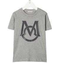 ★メール便無料★【モンクレール/Moncler】半袖ロゴ Tシャツ(グレー)<164cm>