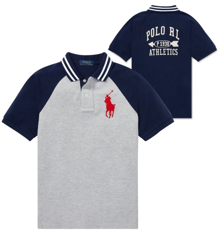3T Red Polo Ralph Lauren Little Boys Big Pony Mesh T-Shirt